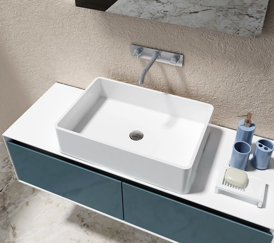 Solid Surface Counter Top Basin Smooth Non Porous Seamless Joint